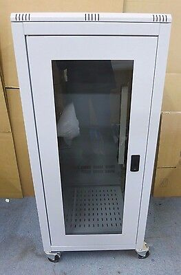 Prism Free Standing On Wheels Comms Data cabinet 25U 600mm x 600mm Grey With Key