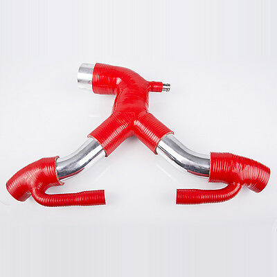 Upgrade Silikon Y-Rohr / Tube For Audi S4 RS4 2.7L ( Rot )