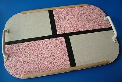 'Blue Label Weyroc' Tray c1950s - Retro Pink & Light Brown Formica Covering