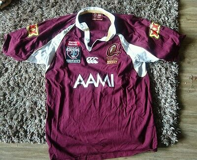 Queensland State of Origin playing shirt. Mint. Rugby League. NRL
