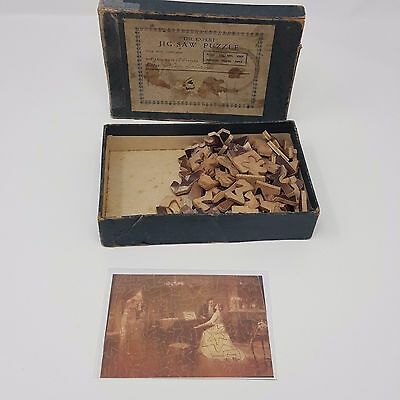 Vintage Wooden Push Together Jigsaw Expert Series  Boots