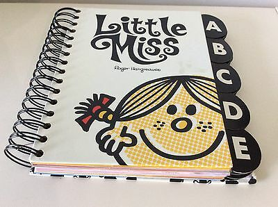 Little Miss Address Book * large size with Spiral spine * unused * mark on cover