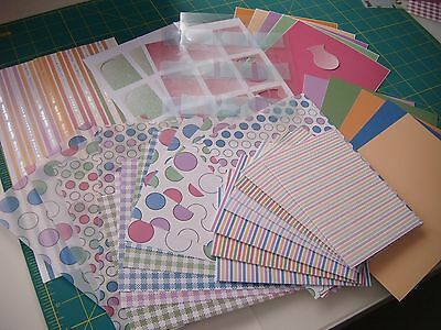card kit, card, papers, vellum, embelishments