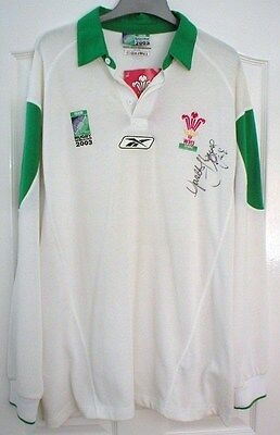 Wales Signed 2003 Rugby World Cup Shirt  (Gareth Thomas) Size L  Bnwt