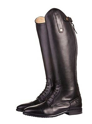 New! Hkm Childrens Valencia Quality Leather Long Riding Boots