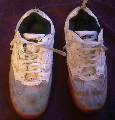 Squash Classic Men's Court Shoe In White & Green. Uk Size 7.5. Eu 41.5
