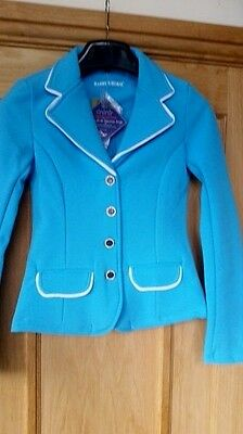 Harry's Horse Girl's Softshell Competition Jacket  Light Blue/white