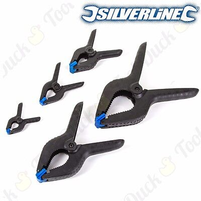 SILVERLINE QUALITY SPRING CLAMPS SMALL - EXTRA LARGE Nylon Plastic Quick Grips