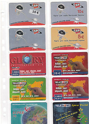 Different Companys - Prepaid cards Greece USED 166pcs