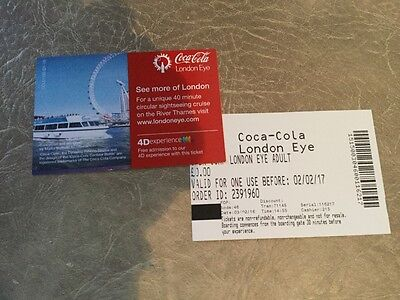 2 London eye tickets -more tickets available
