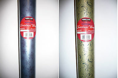 New Kirkland Luxury Christmas Heavy Weight Foil Wrapping Paper 25M Metres