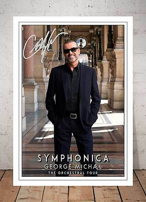 George Michael Symphonica Autographed Signed Photo Print