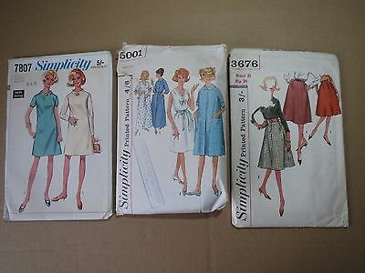 Lot of 3  WOMENS OUTFIT PATTERNS (1960s)