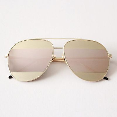 Berlin Sunglasses - Rose Gold - Pink | Reflective | Aviator shades | Mirrored