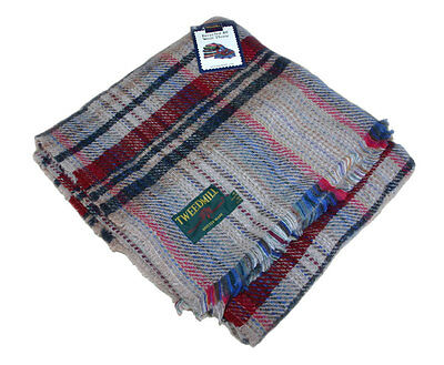 150 x 183cm ~ Large Recycled Wool Picnic Rug Throw Travel Blanket by Tweedmill
