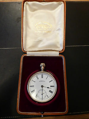 Antique 1897 Gold plated Waltham pocket watch in working order, in original case