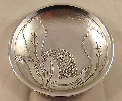 Small Australian Polished Metal Dish signed by Don Sheil