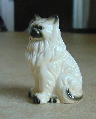 Vintage Moulded Bone China Figure of Persian Cat