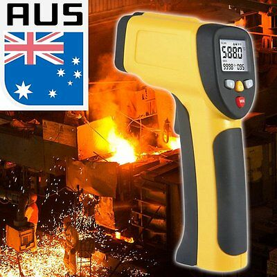 Dual Laser LCD Display Infrared Thermometer -50 To 1050 Degree Celsius HT-819 BG
