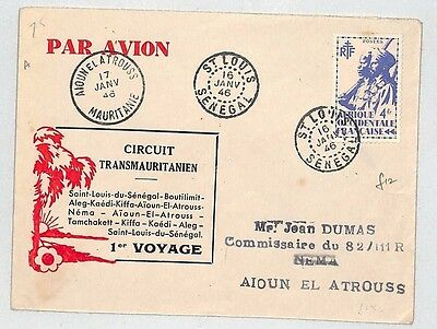 J75 1946 St. Louis, Senegal to Aioun El Atrouss by Air Mail