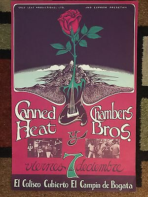 Rare Canned Heat Poster In Bogata Colombia