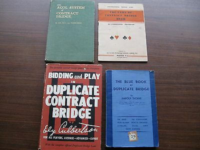 4 vintage instructive books relating to the card game of bridge