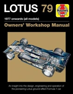 Lotus 79 Owners Workshop Manual 1978 Onwards All Models book paper