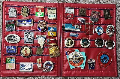 Lot of 22 SOVIET RUSSIAN USSR  Collector Pins Olympic Military and more