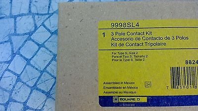 Square D Size 2 Motor Starter Contact Kit 9998Sl4 Brand New Factory Sealed