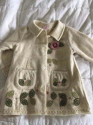 Monsoon Girls Wool Coat Age 18-24 Months
