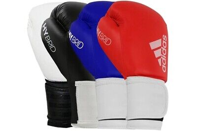 Adidas Boxing Gloves Hybrid 100 8oz 10oz 12oz 14oz 16oz Black Red Blue Sparring