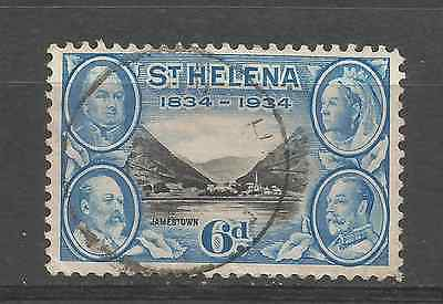 ST HELENA 1934. 6d VALUE FINE USED.