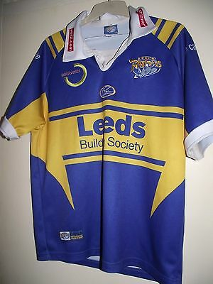 leeds rhinos cobbetts med rugby league shirt good cond