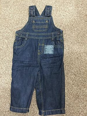 New M&S Baby Boy Dungarees Marks & Spencers 6-9 Months