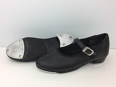 Theatricals Tap Dance Shoes Girls Size 11.5 Black Buckle Strap