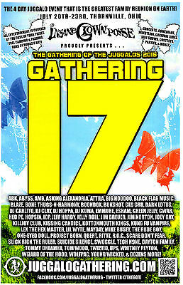 GATHERING Of The JUGGALOS 17 Thornville, OH 2016 Insane Clown Posse Promo Poster