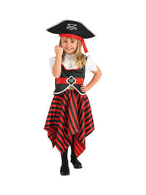 New With Defects: Child 5-6 Yrs Girl Pirate Fancy Dress Book Week Kids Costume