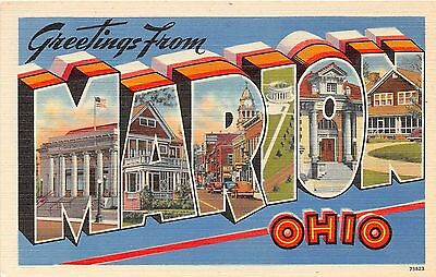 Large Letter postcard Greetings from Marion Ohio
