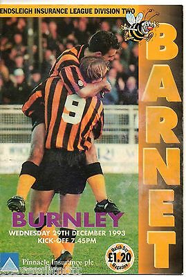 1993 BARNET v BURNLEY at Underhill