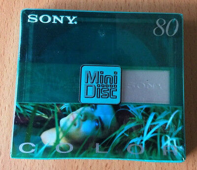 1 NEW Sony Color (80 mins) minidisc, factory sealed. Plus SonicStage 4.3 CD.