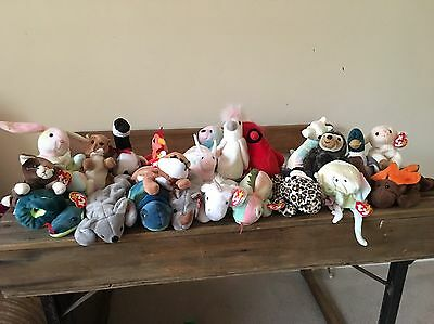 TY Beanie Babies job lot with tags - Retired