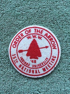 Order of the Arrow 15th National Meeting 1948 Indiana University