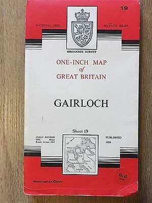 Os Map   Gairloch   Seventh Series 19 One Inch Map On Cloth 1961