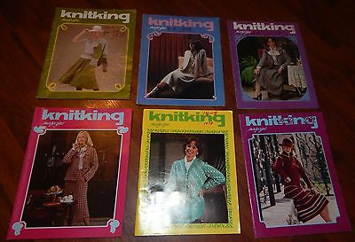 Lot Of 6 Knitking Magazines 1977 & 1978 Vol 14 No 1 2 3 4 5 & 6 Knitting Vintage