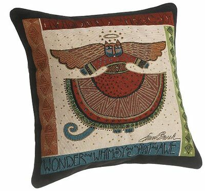 Laurel Burch 18-inch Angelicat Square Pillow...NEW