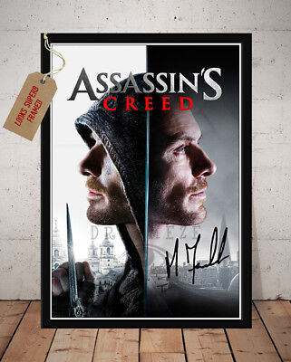 Michael Fassbender Assassins Creed Signed Autographed Movie Print