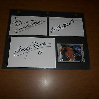 2 Christian Fittipaldi, Derrike Cope, 2 Wally Dallenbach Jr. Hand Signed 5 Items