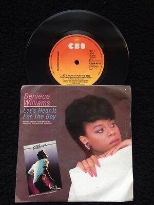 """Deniece Williams - Lets Hear It For The Boy / Inst 7"""" Vinyl Pic Sleeve CBS A4319"""