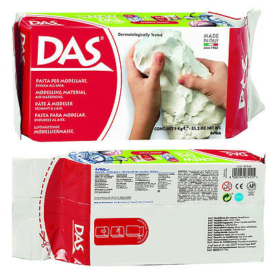 DAS White Air Dry Clay No Baking Self Hardening Modelling Art Craft Project 1kg