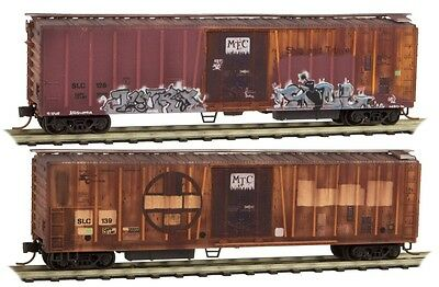 Micro-Trains N 070 44 080 *weathered 2 Pack* 51' Slc  Mch.reefer Rd# 128 & 136
